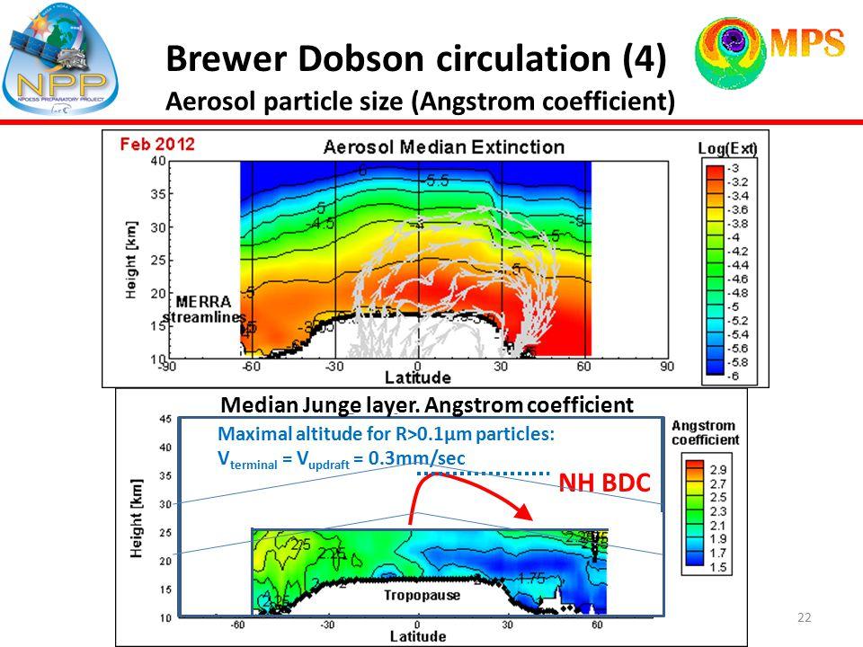 22 Brewer Dobson circulation (4) NH BDC Median Junge layer.