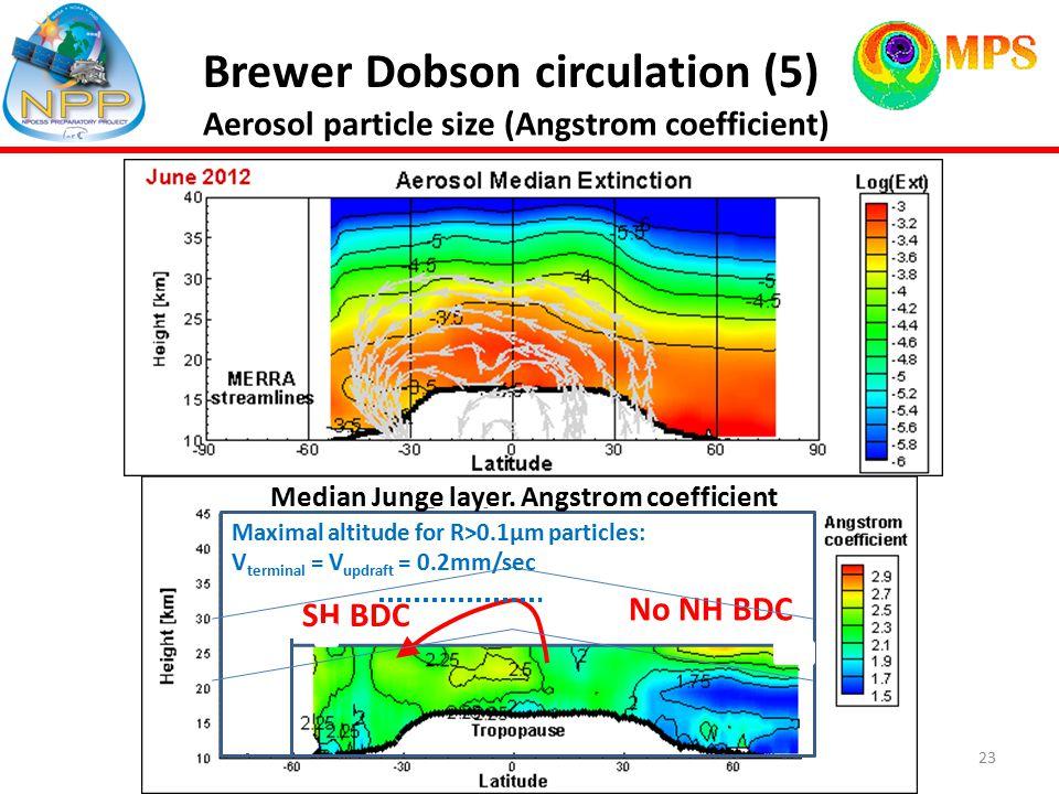 23 Brewer Dobson circulation (5) NH BDC Median Junge layer.
