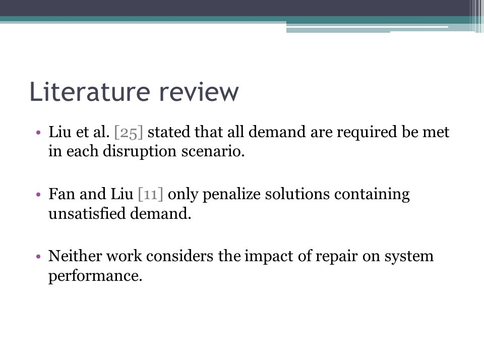 Literature review Liu et al.