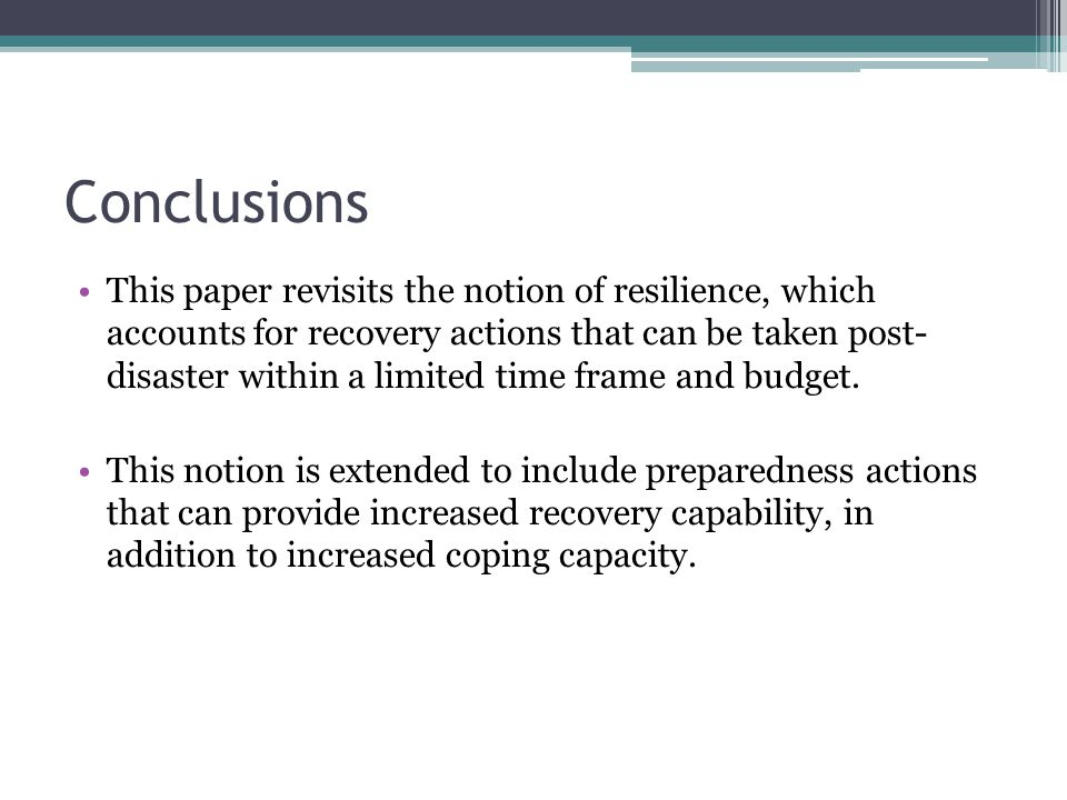 This paper revisits the notion of resilience, which accounts for recovery actions that can be taken post- disaster within a limited time frame and budget.