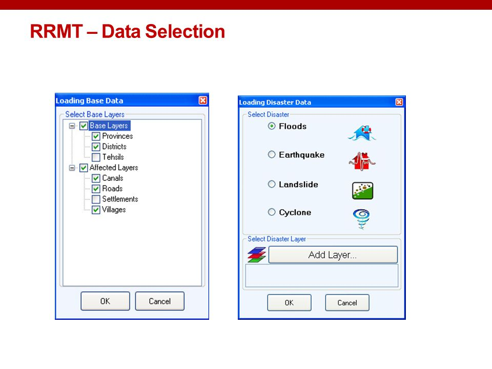 RRMT – Data Selection