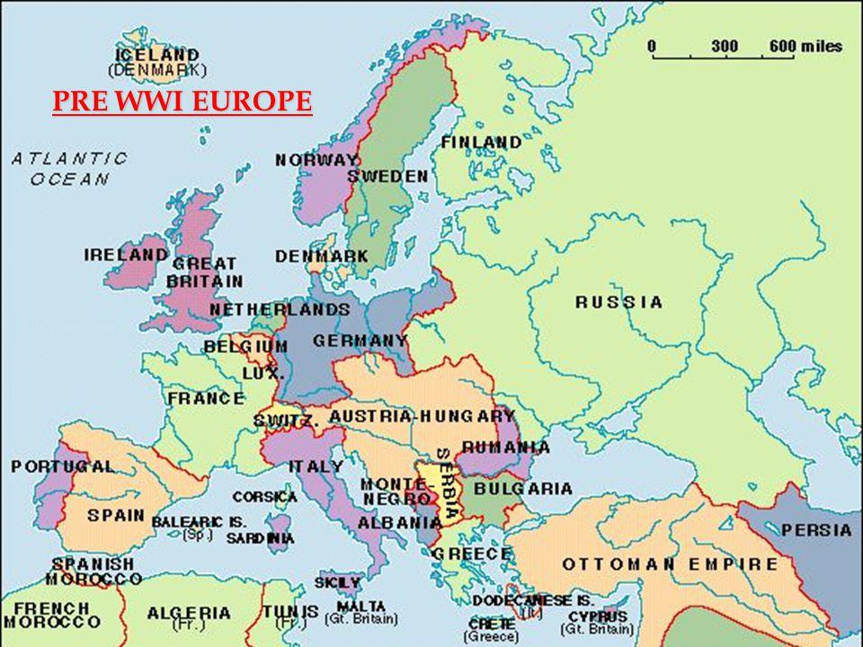 PRE WWI EUROPE