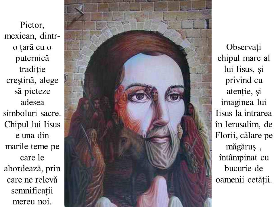 Pictor, mexican, dintr- o ţară cu o puternică tradiţie creştină, alege să picteze adesea simboluri sacre.
