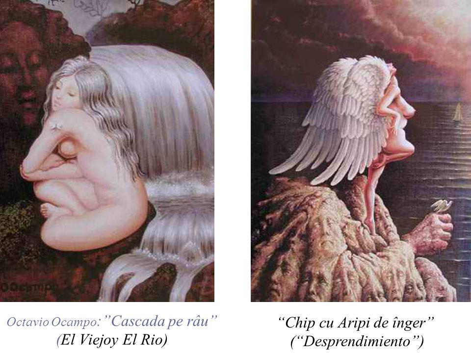 Îngerii din cer (Celestial bodies) Îngerii reprezinta o alta mare tema din pictura lui Ocampo.