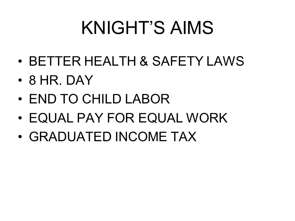 KNIGHT'S AIMS BETTER HEALTH & SAFETY LAWS 8 HR.