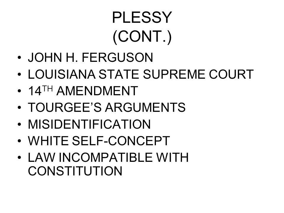 PLESSY (CONT.) JOHN H.