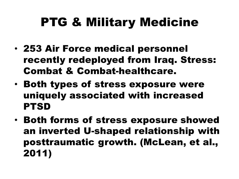 PTG & Military Medicine 253 Air Force medical personnel recently redeployed from Iraq.