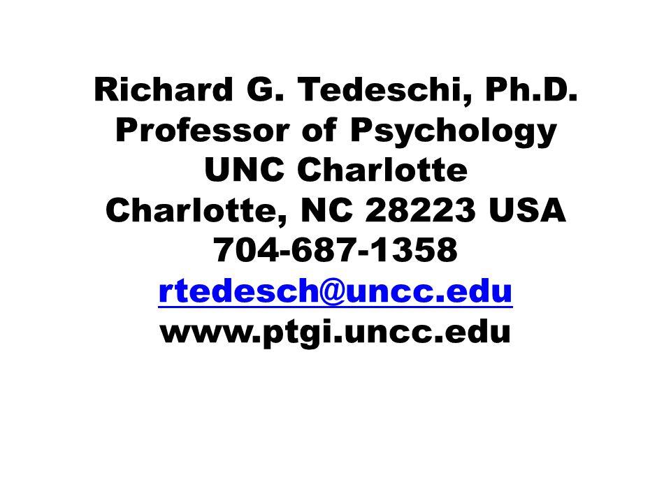 Richard G. Tedeschi, Ph.D.