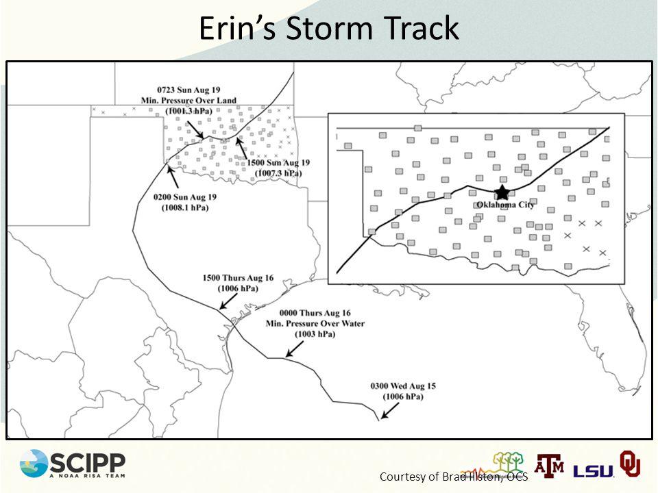 Erin's Storm Track Courtesy of Brad Illston, OCS