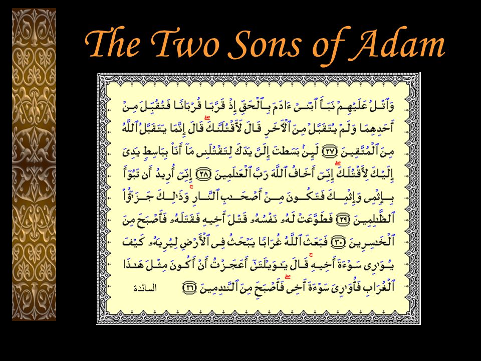 The Two Sons of Adam المائدة