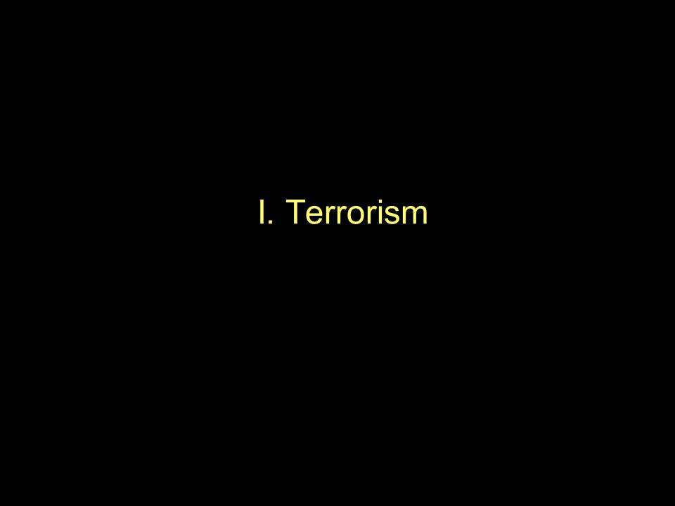 I. Terrorism