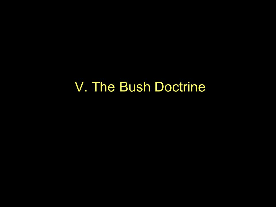 V. The Bush Doctrine