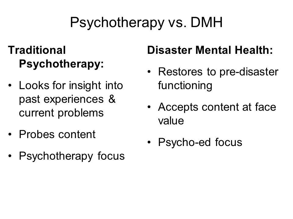 Psychotherapy vs.