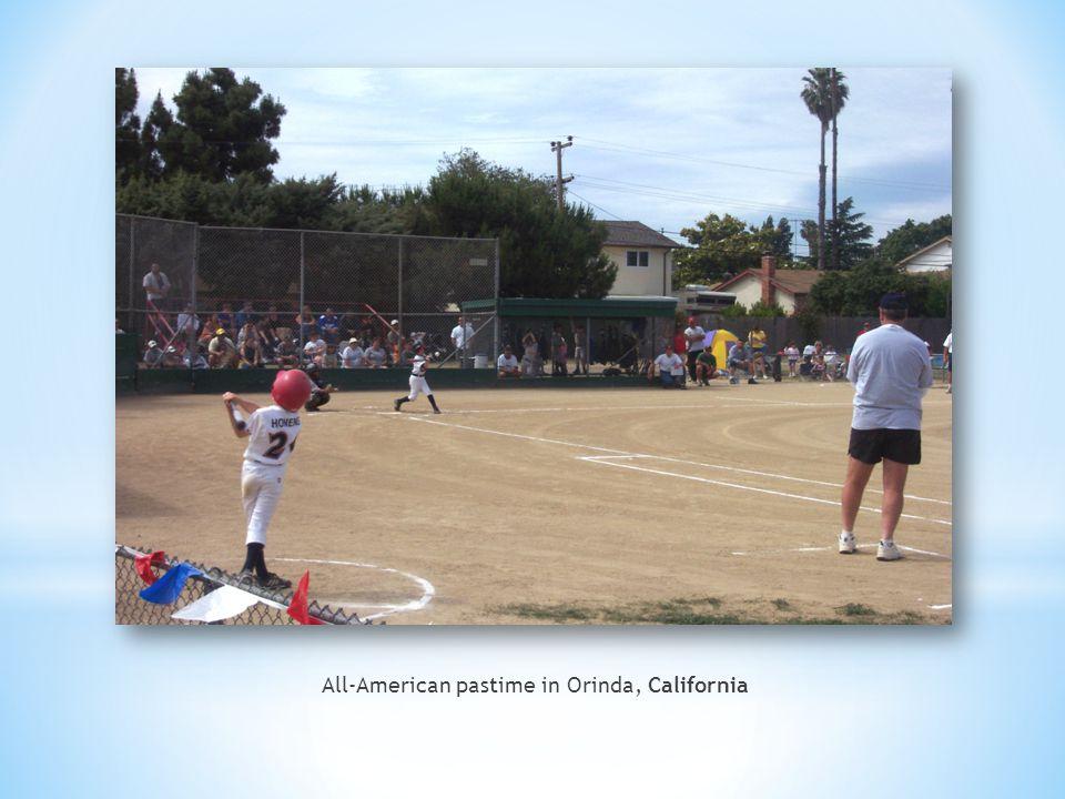 All-American pastime in Orinda, California