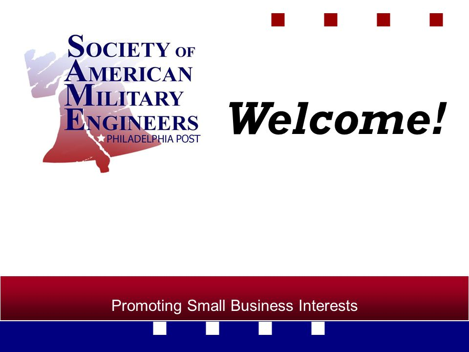 Promoting Small Business Interests Welcome!