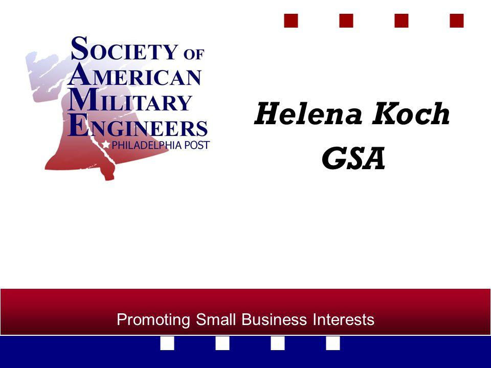 Promoting Small Business Interests Helena Koch GSA