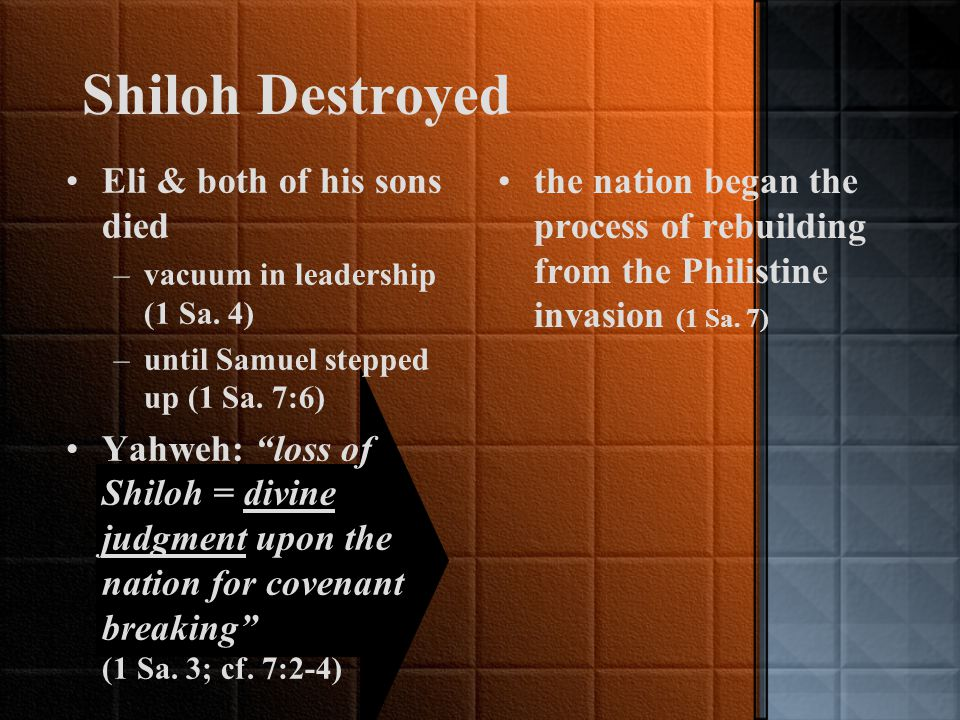 Birth of the Monarchy (1 Samuel 1-8) Samuel: –transitional figure [Tribal League & Monarchy] Last of the judges, –presided over crowning of the first king (1 Sa.
