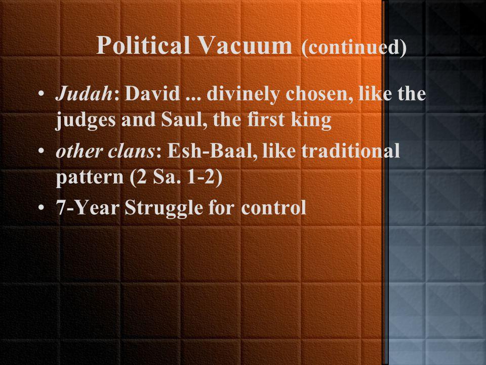 Kingship of David (2 Sam. 1-24; 1 Kgs 1-2; 1 Chron.