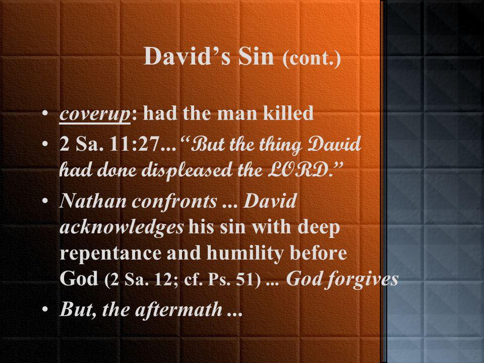 David's Tragic Sin (2 Sa.