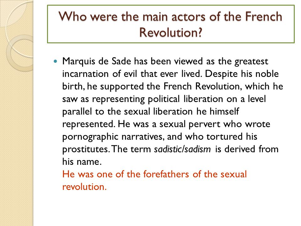 Who were the main actors of the French Revolution.