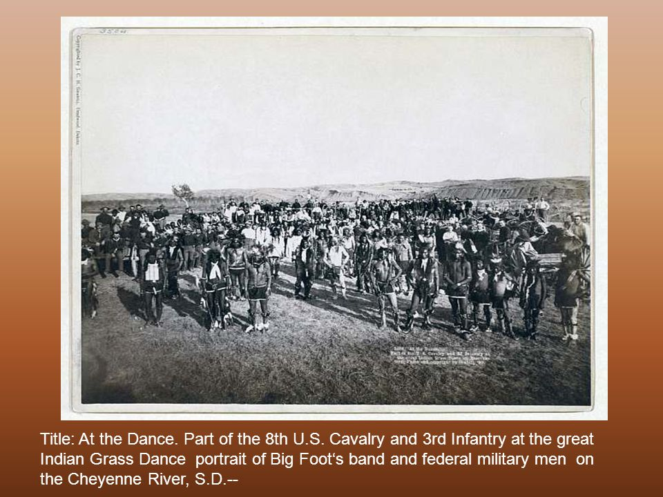 Hostile Indian camp Bird s-eye view of a large Lakota camp of tipis, horses, and wagons. 1891