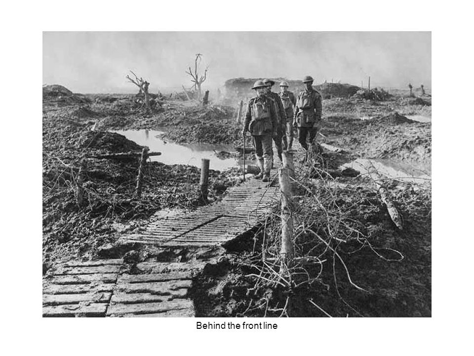Battleground conditions on the Western Front