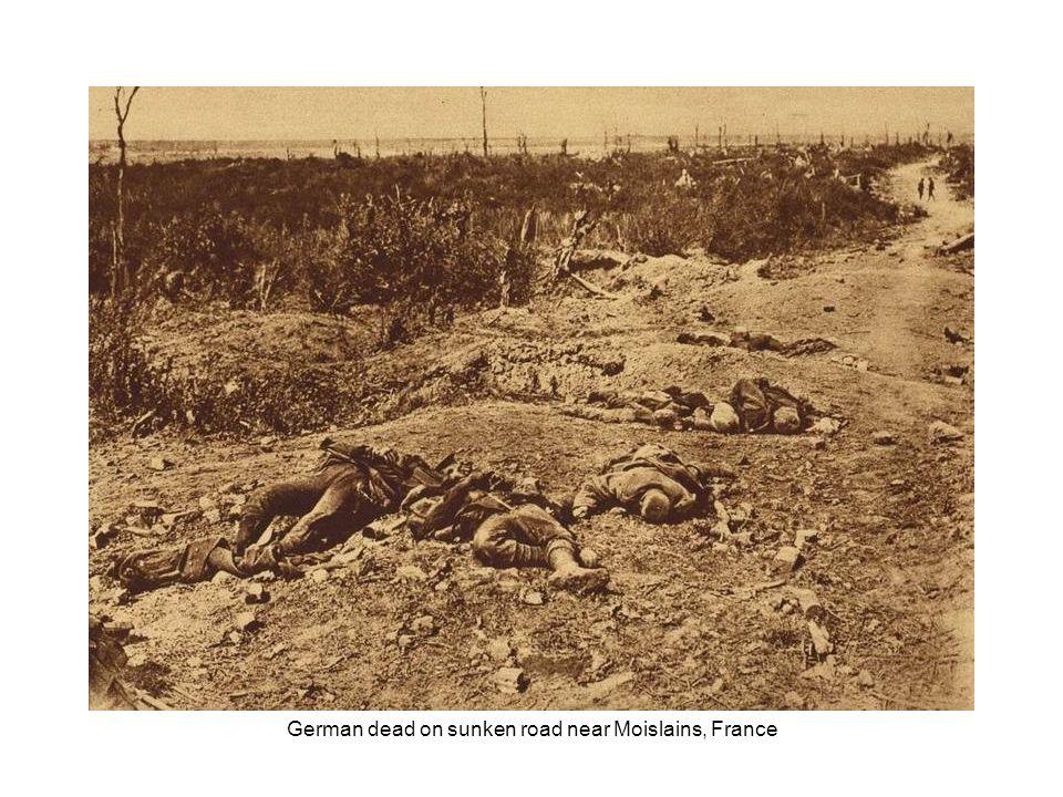 Corpse-strewn battlefield near Cambrai, France