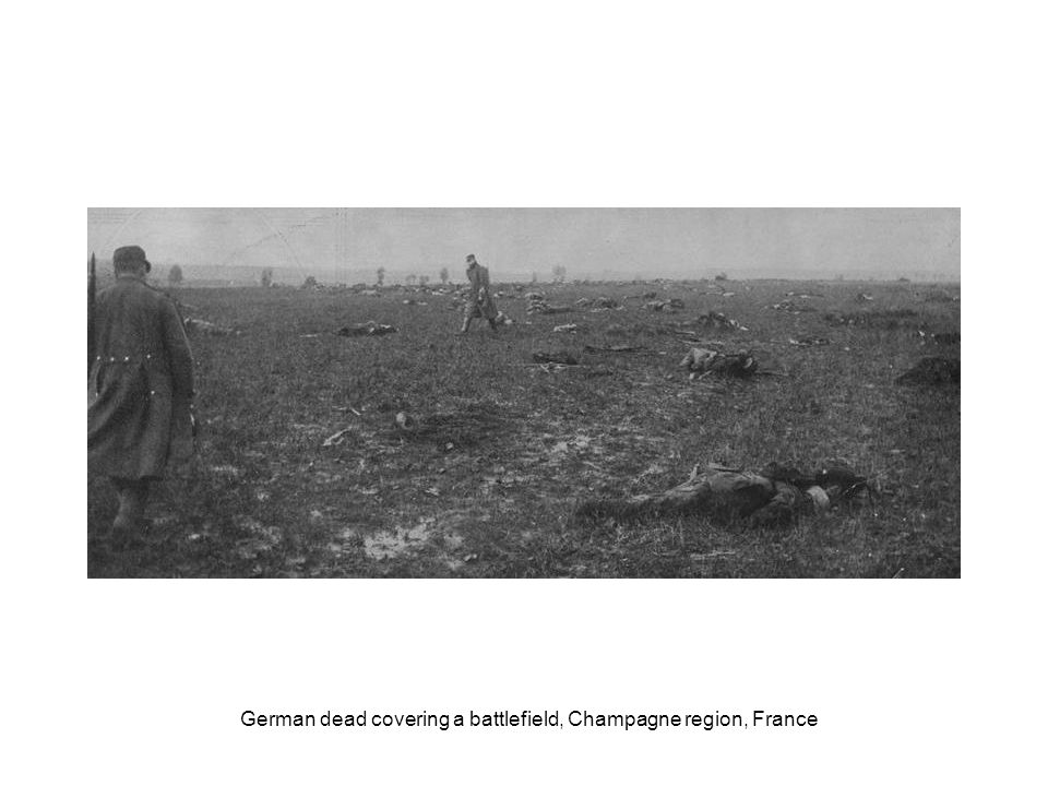 German dead on sunken road near Moislains, France