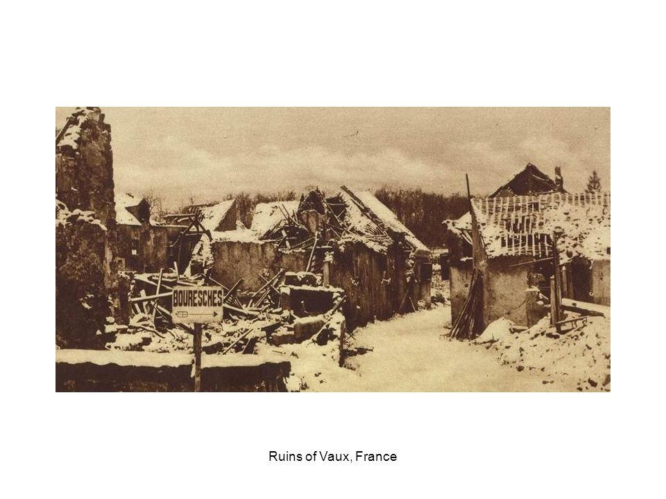 Ruins of the village of Farbus, France, captured by the Canadians