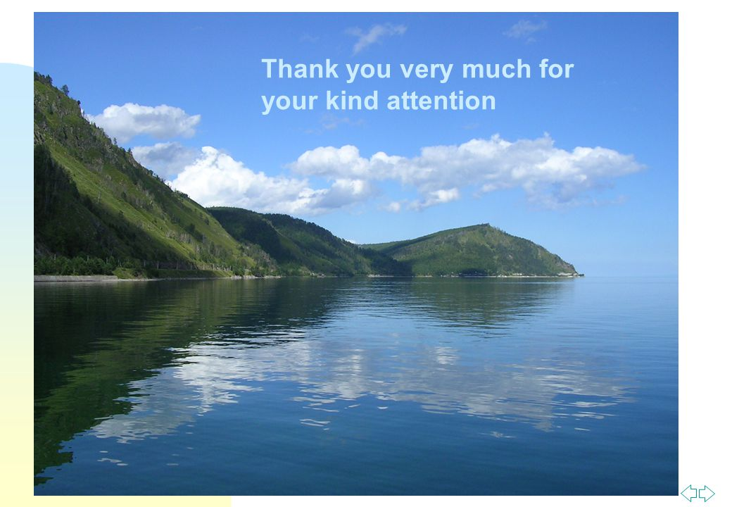 Перейти на первую страницу Thank you very much for your kind attention