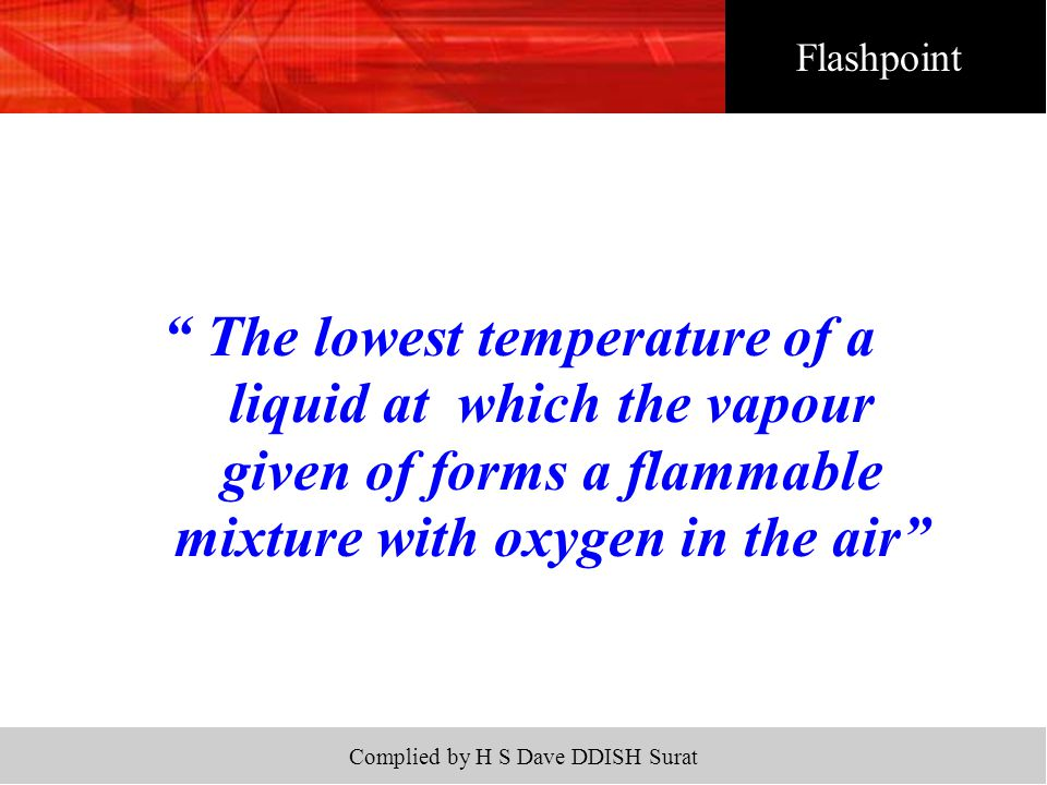 Complied by H S Dave DDISH Surat  Ignition of leak from aerosols (propellant or product base)  Ignition of packaging material.