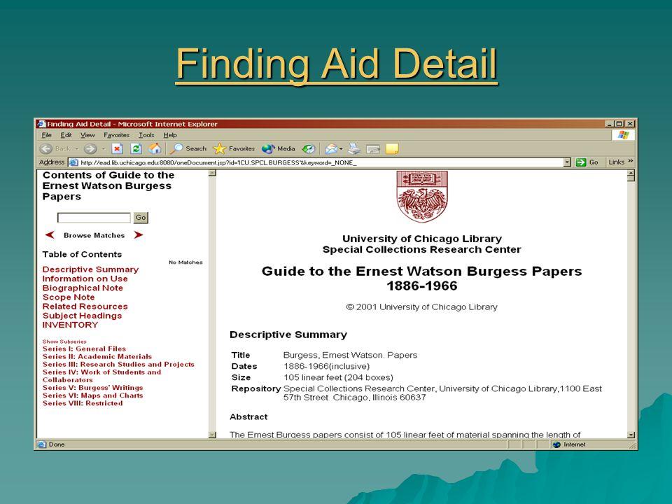 EAD Website http://www.loc.gov/ead/ead.html http://www.loc.gov/ead/ead.html