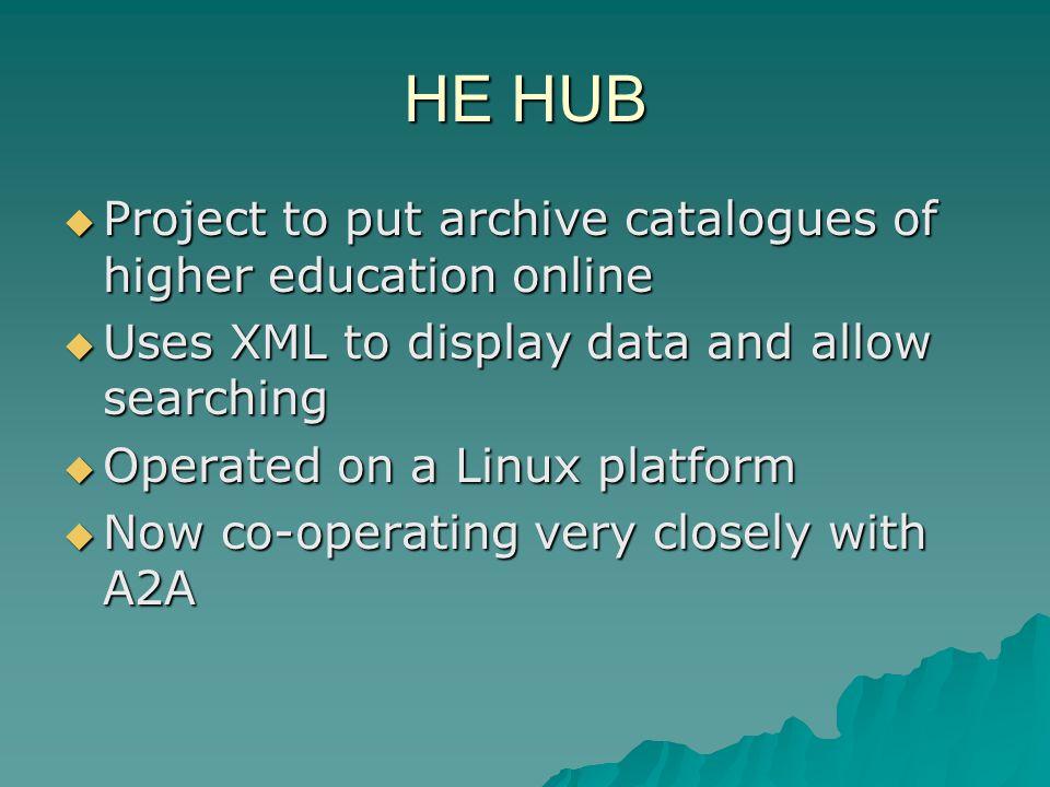 Higher Education Archives Hub http://www.archiveshub.ac.uk http://www.archiveshub.ac.uk