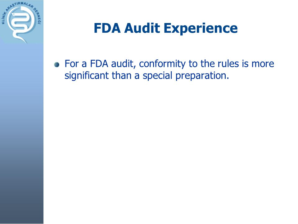 Excitement towards the audit Success overrules all excuses.
