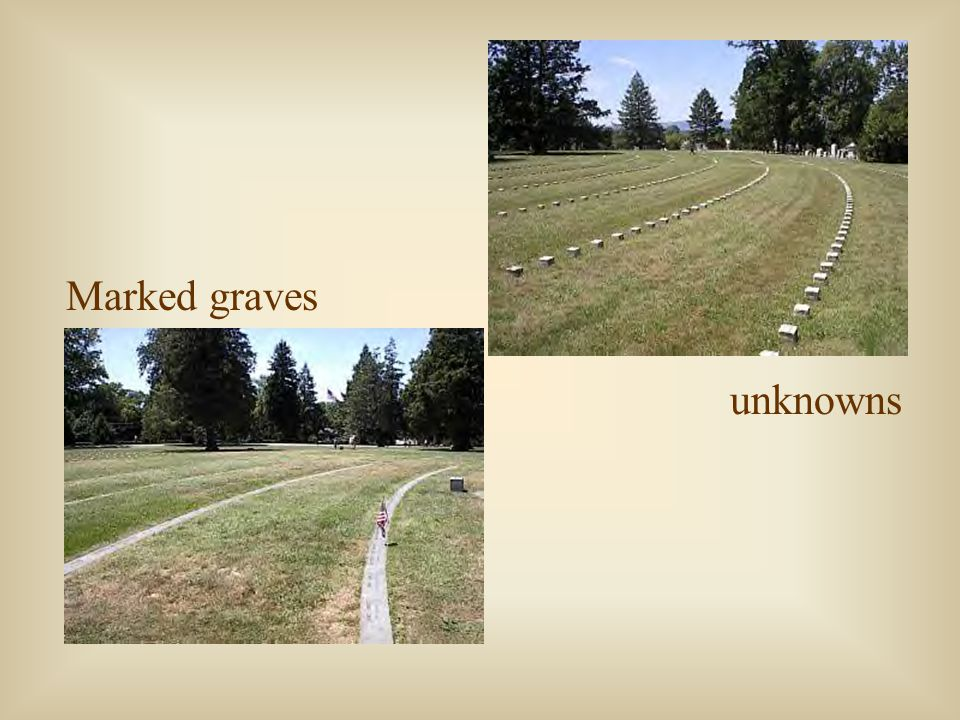 Marked graves unknowns