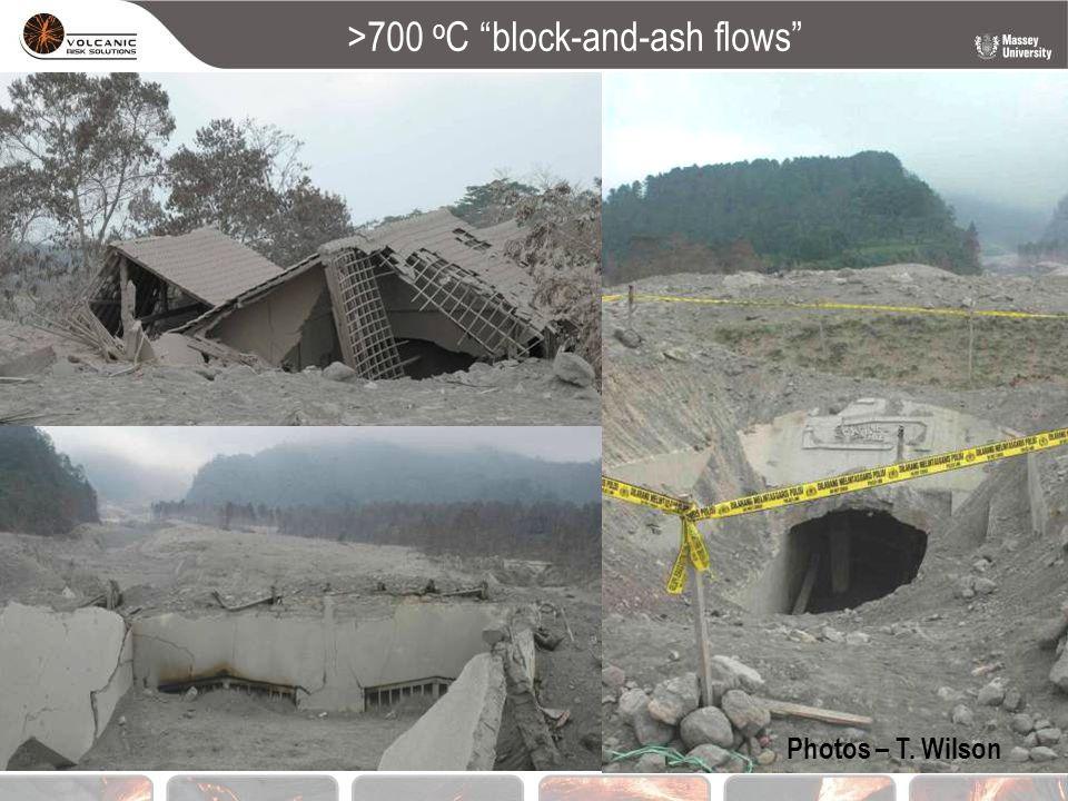 ">700 o C ""block-and-ash flows"" Photos – T. Wilson"