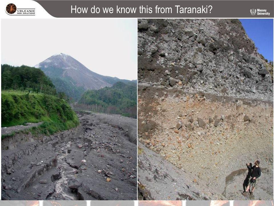 How do we know this from Taranaki?