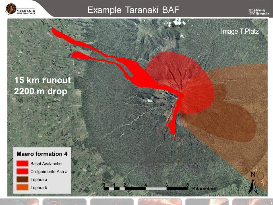 Example Taranaki BAF 15 km runout 2200 m drop Image T.Platz