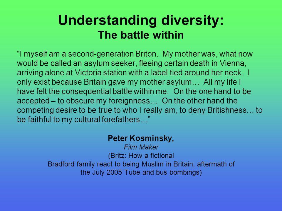 Understanding diversity: The battle within I myself am a second-generation Briton.