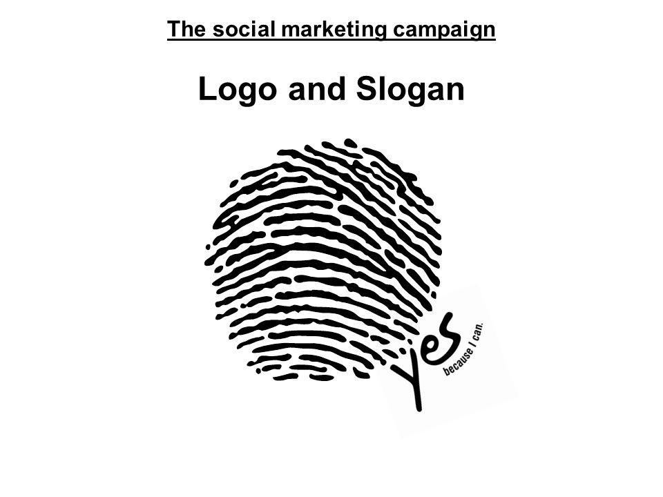 The social marketing campaign Logo and Slogan