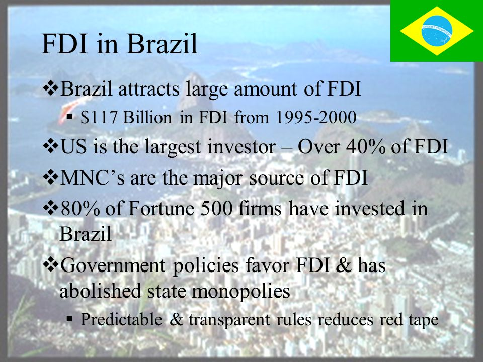 Demand Conditions  A strong home demand exists in Brazil  A population of 172 Million  A strong demand for consumer products, Autos etc at home supports expansion abroad by Brazilian companies  Free Trade Area agreement with other South American countries creates a larger market