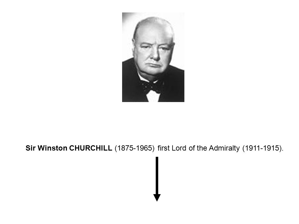 Sir Winston CHURCHILL (1875-1965) first Lord of the Admiralty (1911-1915).