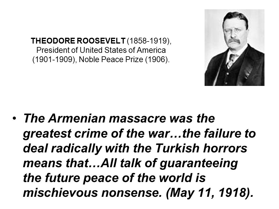 THEODORE ROOSEVELT (1858-1919), President of United States of America (1901-1909), Noble Peace Prize (1906).
