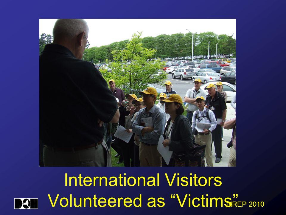 International Visitors Volunteered as Victims