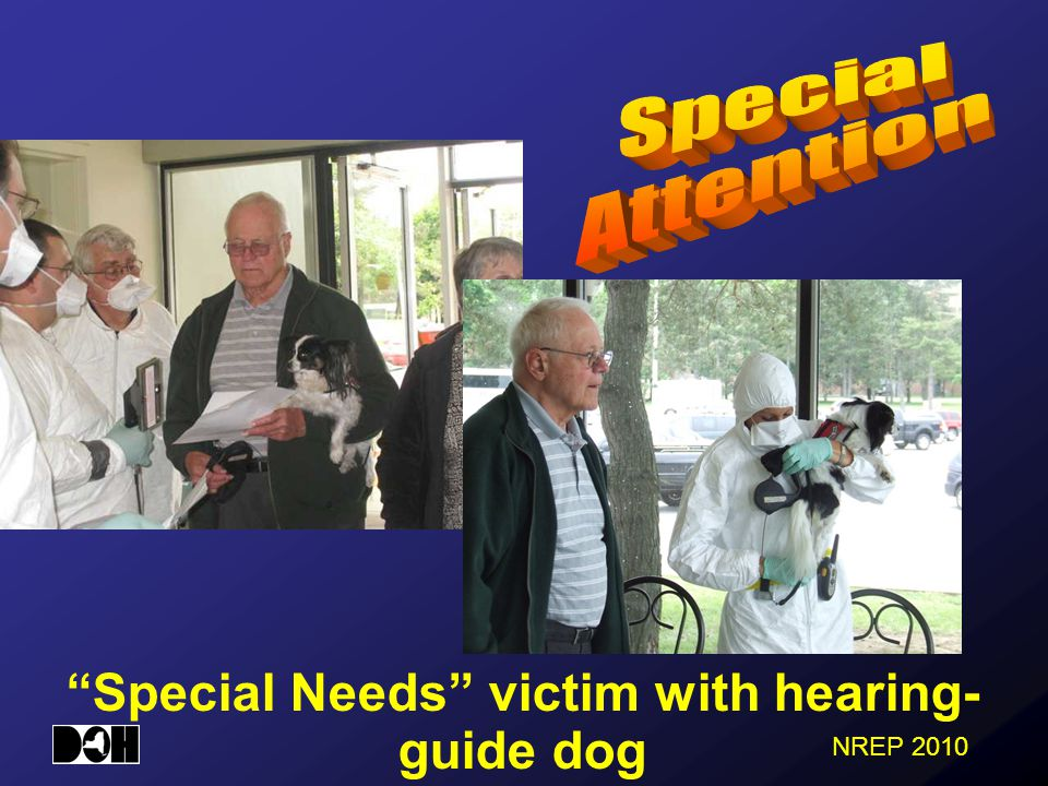 NREP 2010 Special Needs victim with hearing- guide dog
