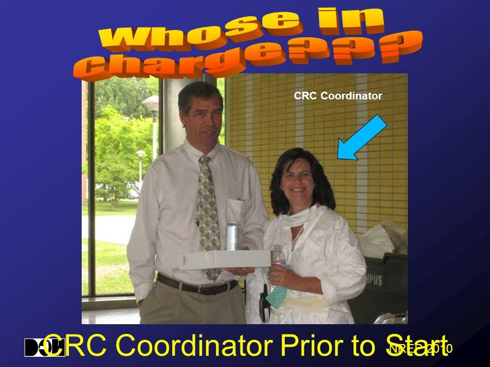 CRC Coordinator Prior to Start CRC Coordinator