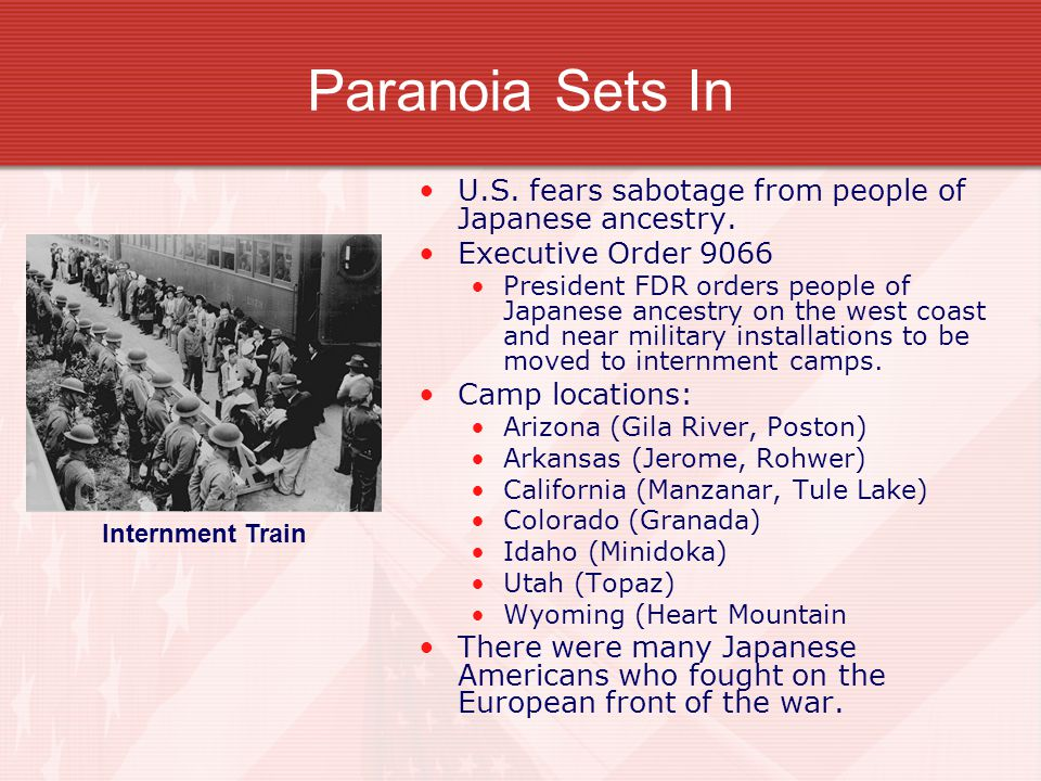 Paranoia Sets In U.S. fears sabotage from people of Japanese ancestry.