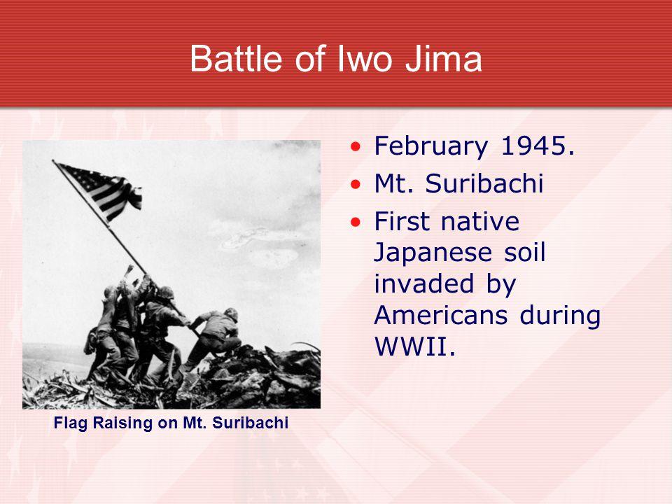 Battle of Iwo Jima February 1945. Mt.