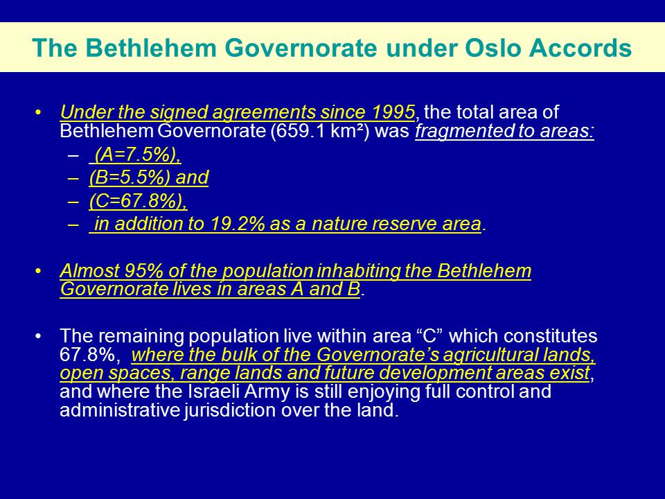 Geopolitical classifications & Segregation Wall Route of the Bethlehem Governorate