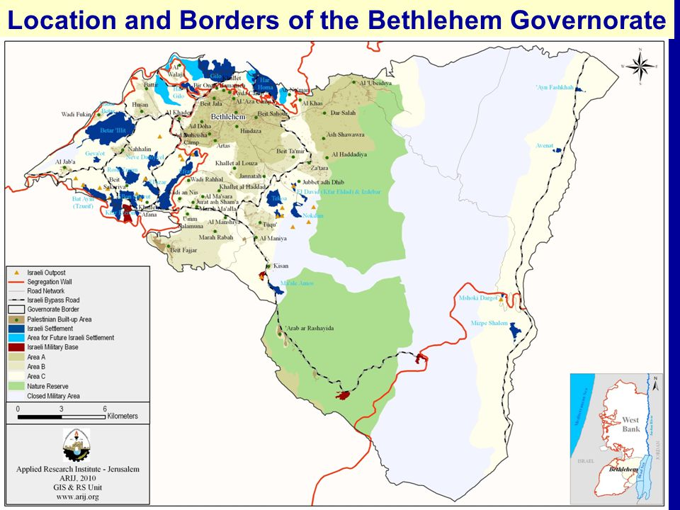 Facts about the Bethlehem Governorate The total population of the Bethlehem Governorate in 2007 was 176,235 persons.